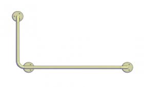 Поручни для инвалидов угловой (90°) 800х400 мм левый