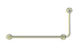 Поручни для инвалидов угловой (90°) 800х400 мм правый