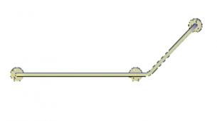 Поручни для инвалидов угловой (135°) 800х400 мм правый