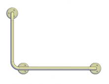 Поручни для инвалидов угловой (90°) 600х400 мм левый