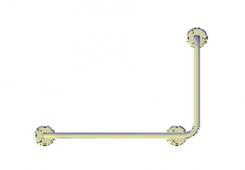 Поручни для инвалидов угловой (90°) 600х400 мм правый