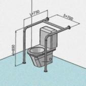 Поручни для инвалидов двусторонний для ванной и туалета